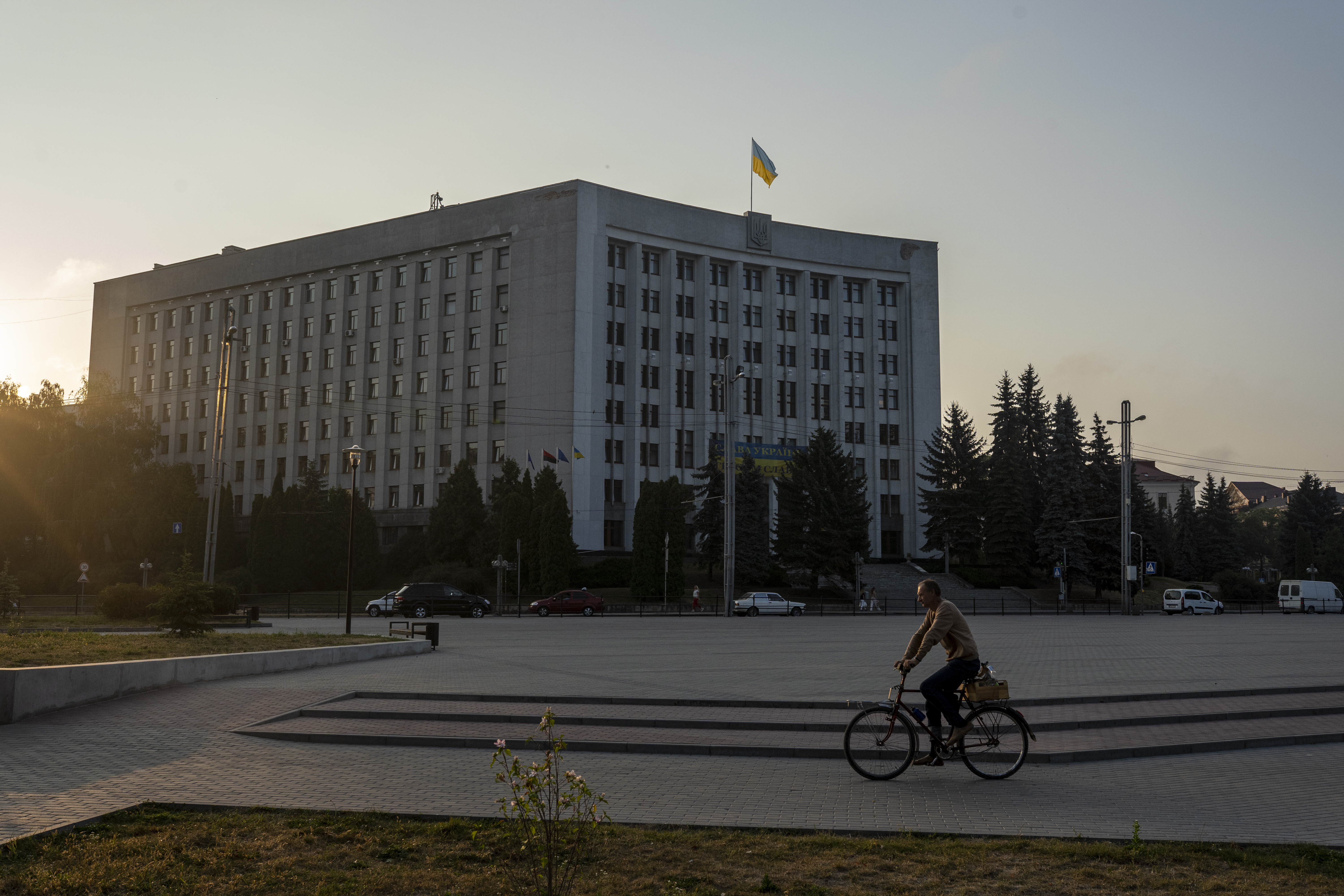 The Ternopil oblast regional council and administration building (AtlasNetwork.org Photo/Bernat Parera).
