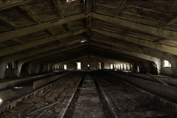 An abandoned building interior.