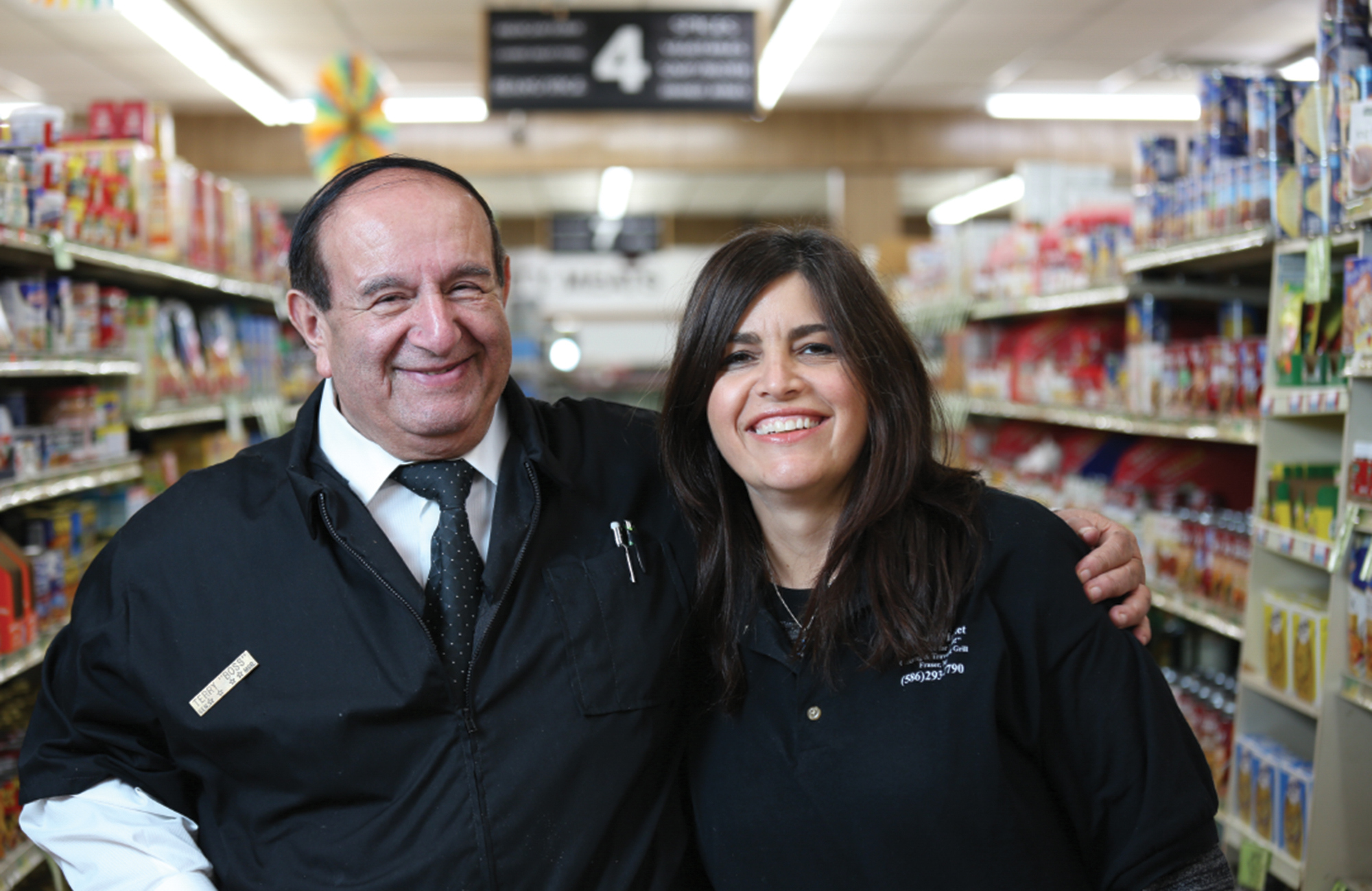 Terry Dehko and his daughter Sandy Thomas, the owners of Schott's Supermarket.