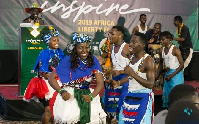 Performers at the Africa Liberty Forum.