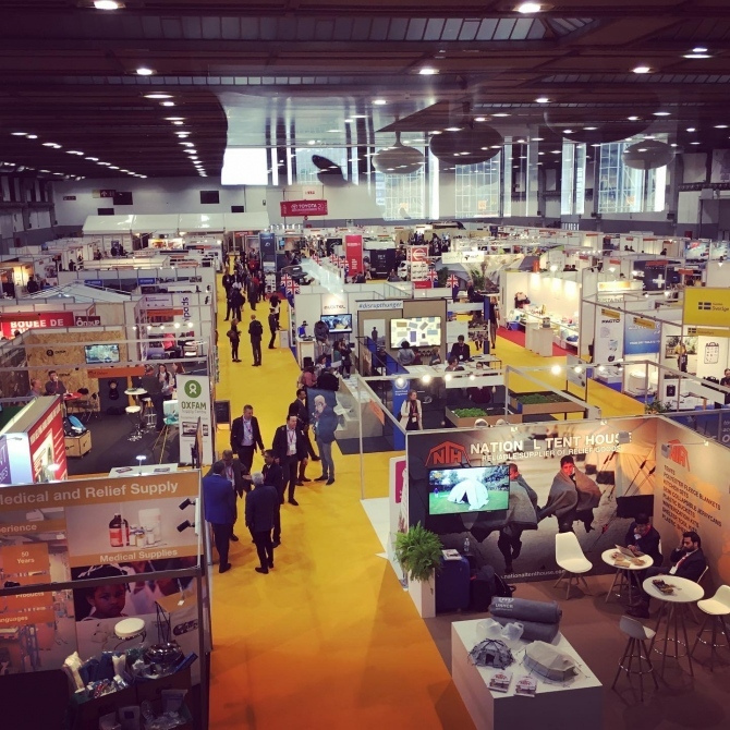 An overhead shot of the Aidex conference.