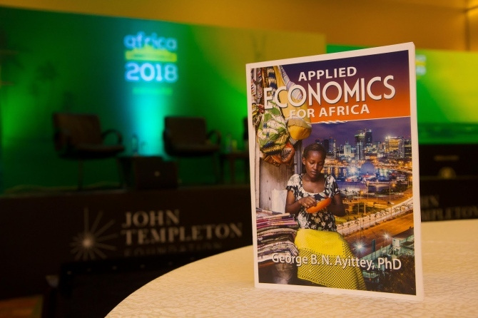Dr. George Ayittey's book 'Applied Economics'.