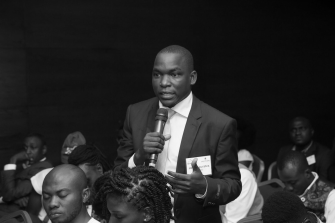A man speaks at the at the Africa Liberty Forum 2018.