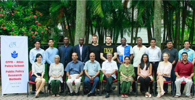 Graduates of the 2015 CPPR-Atlas Policy School 2015, with lecturers and staff.
