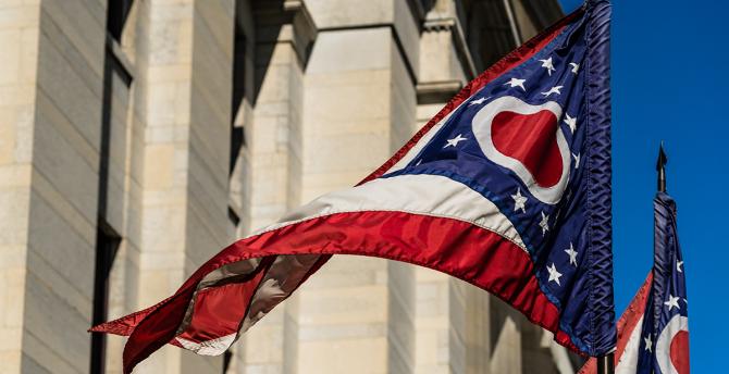 Ohio flag stock