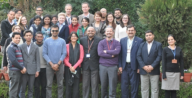 Graduation photo of the 2015 Think Tank Start-up Training 2015, held in Nepal's Kathmandu Valley.