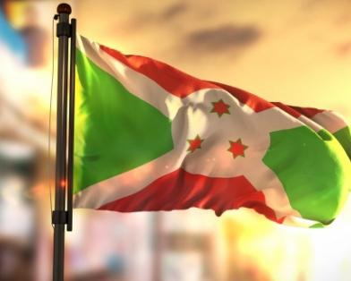 Burundi flag stock