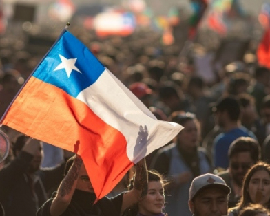 Chile flag stock