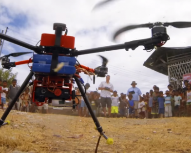 Drones for property rights