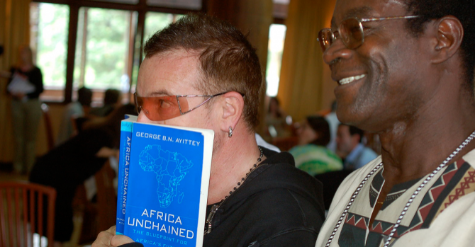 Bono at an event for African Freedom.