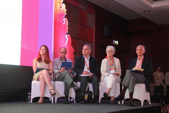 Judges at the 2018 Asia Liberty Forum.