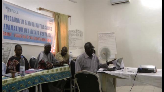A panel meets in Senegal.